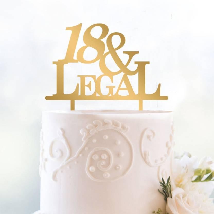 Engrave 18 Legal Funny Birthday Cake Topper Price In India Buy