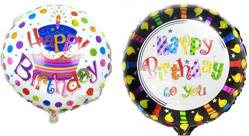 Theme My Party Printed Happy Birthday Foil Balloons