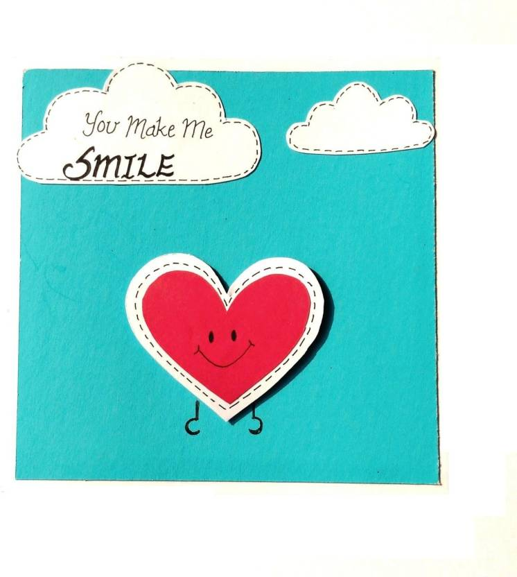 RMantra Handmade You Make Me Smile Amity 1 Love Greeting Card