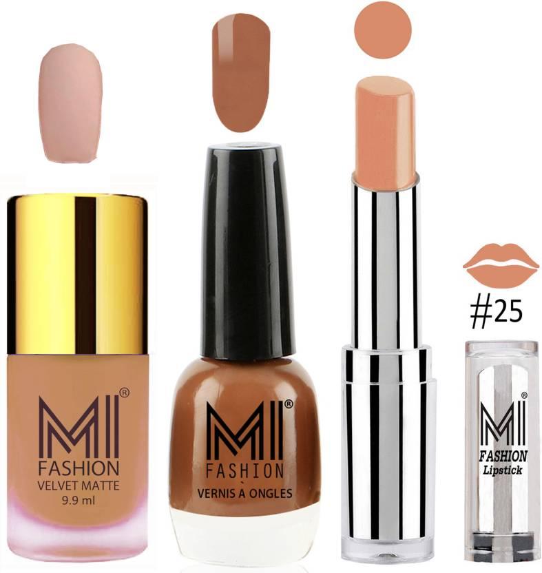 MI Fashion Nude Matte Nail Paint Nude Skin Color Shine Nail Polish ...