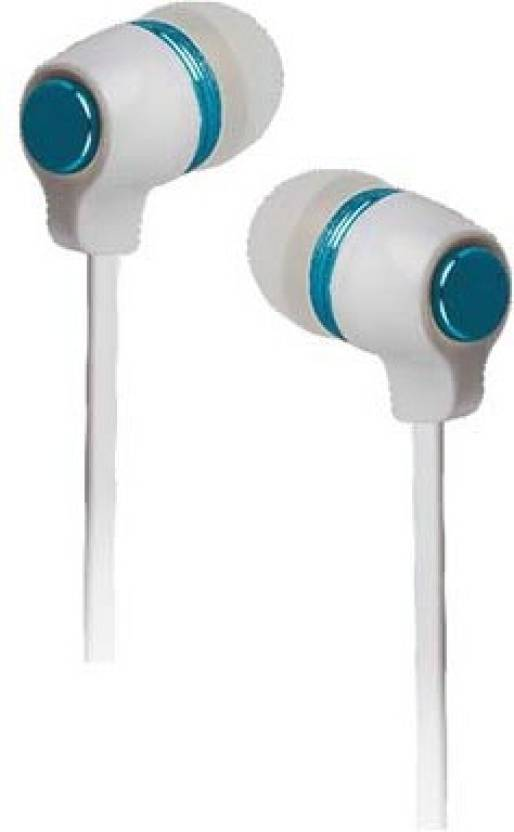 ac50b4d1b68 SKE ERD HF-20 3.5mm Jack supported Flat Cable Earphones Colorful  Combinations Headset Wired Headset with Mic (White, Blue, In the Ear)