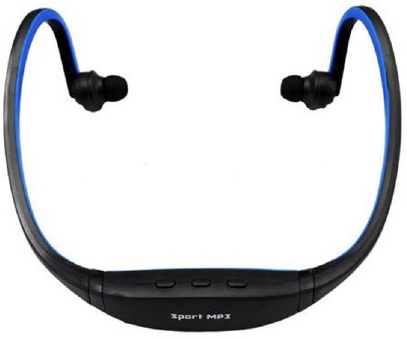 CRETO Latest best quality sound sport mp3 player neck band support fm with  micro sd card Radio Frequency Headphone