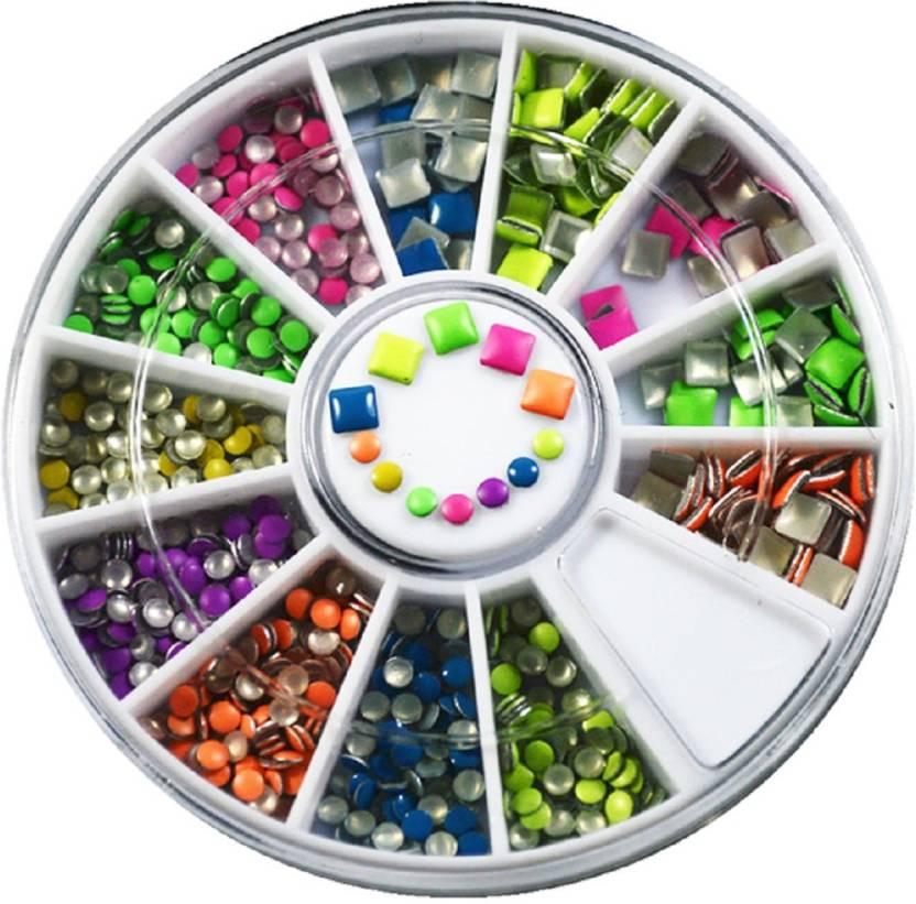 Awe Inspiring Stz 12 Mixed Colors Wheel Design 3D Nail Art Tip Rhinestone Interior Design Ideas Tzicisoteloinfo