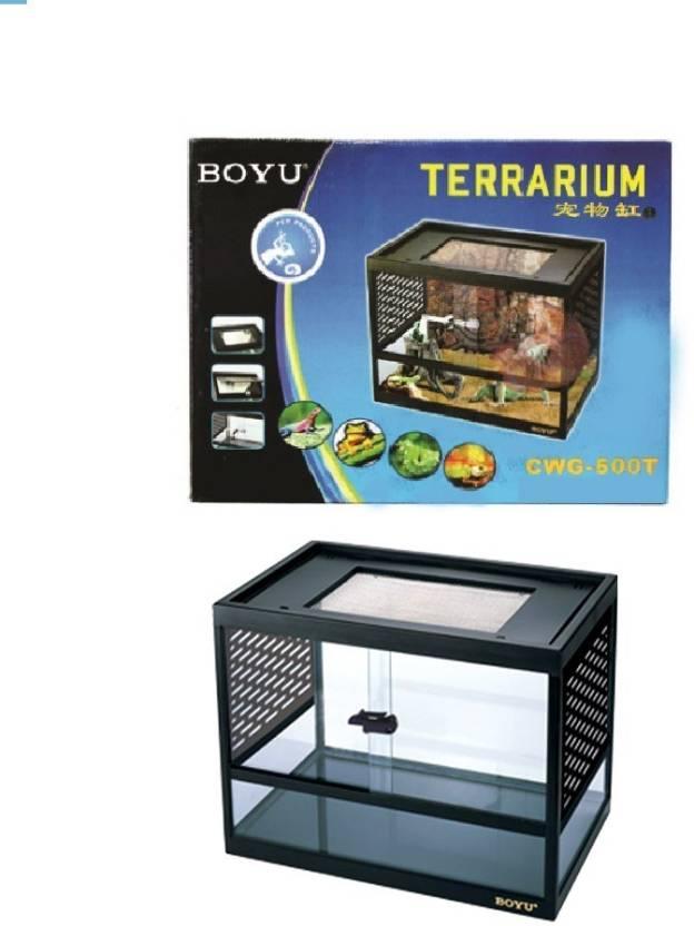 Boyu Terrarium Cwg 500t Cute Terrarium Pet Reptile Cage Crab