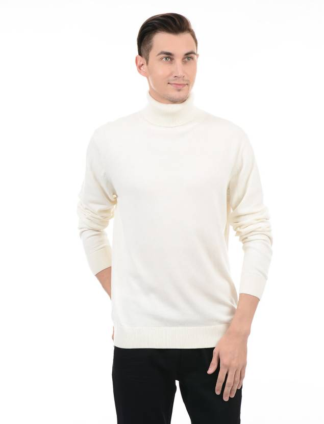 8ad7f18d253 Gant Solid Turtle Neck Casual Men White Sweater - Buy Gant Solid ...