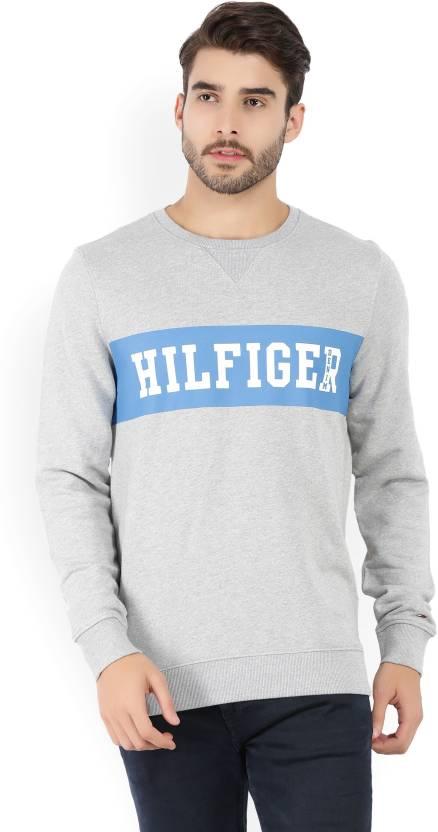 93842fb1d3 Tommy Hilfiger Full Sleeve Printed Men s Sweatshirt - Buy Grey Tommy ...