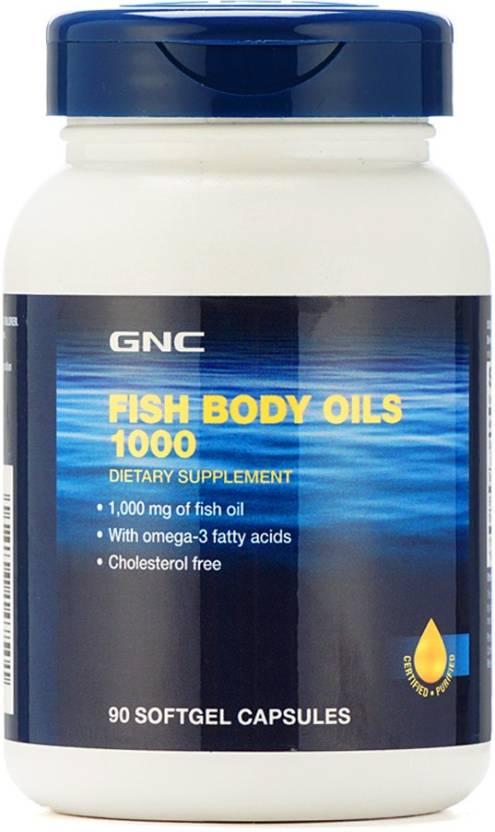 GNC Fish Body Oils (90 Softgel Capsules) Price in India - Buy GNC ... c8886de6614