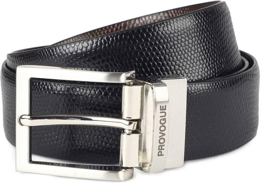 c8cc3dd0431 Provogue Men Black, Brown Genuine Leather Reversible Belt Black/Brown -  Price in India | Flipkart.com
