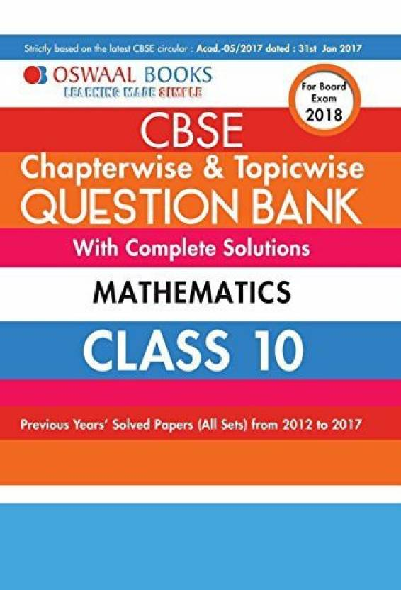 Oswaal cbse chapterwise and topicwise question bank with complete oswaal cbse chapterwise and topicwise question bank with complete solutions for class 10 mathematics for fandeluxe Image collections