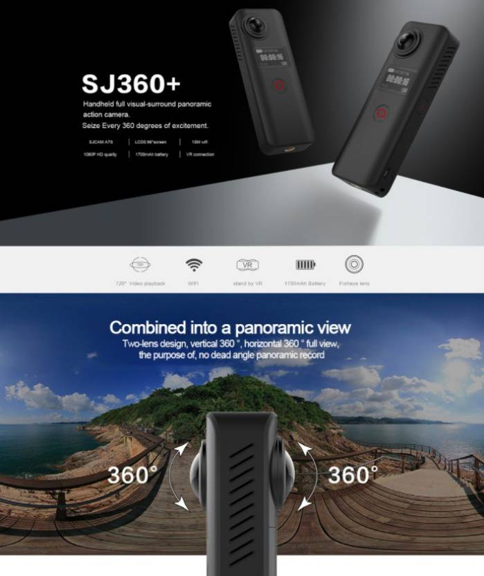 SJCAM SJ360+ 2018 CorebikerZ SJ360+ 2018 CorebikerZ Sports & Action Camera(Black)