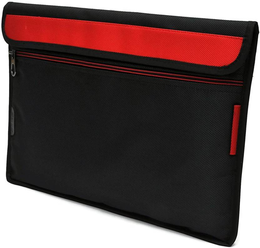 Saco Pouch for Tablet iBall Slide Brace X1 Bag Sleeve Sleeve Cover  Red  Black
