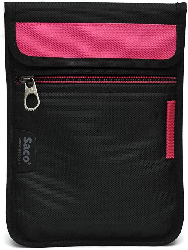 Saco Pouch for Tablet iBall Slide 7803Q 900 Bag Sleeve Sleeve Cover  Pink  Black, Pink