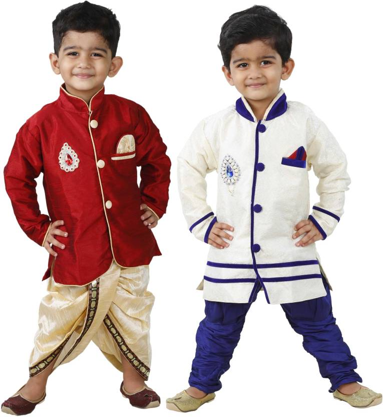 e3cc885175b STYLOKIDS Boys Festive   Party Kurta and Dhoti Pant Set (Multicolor Pack of  4)