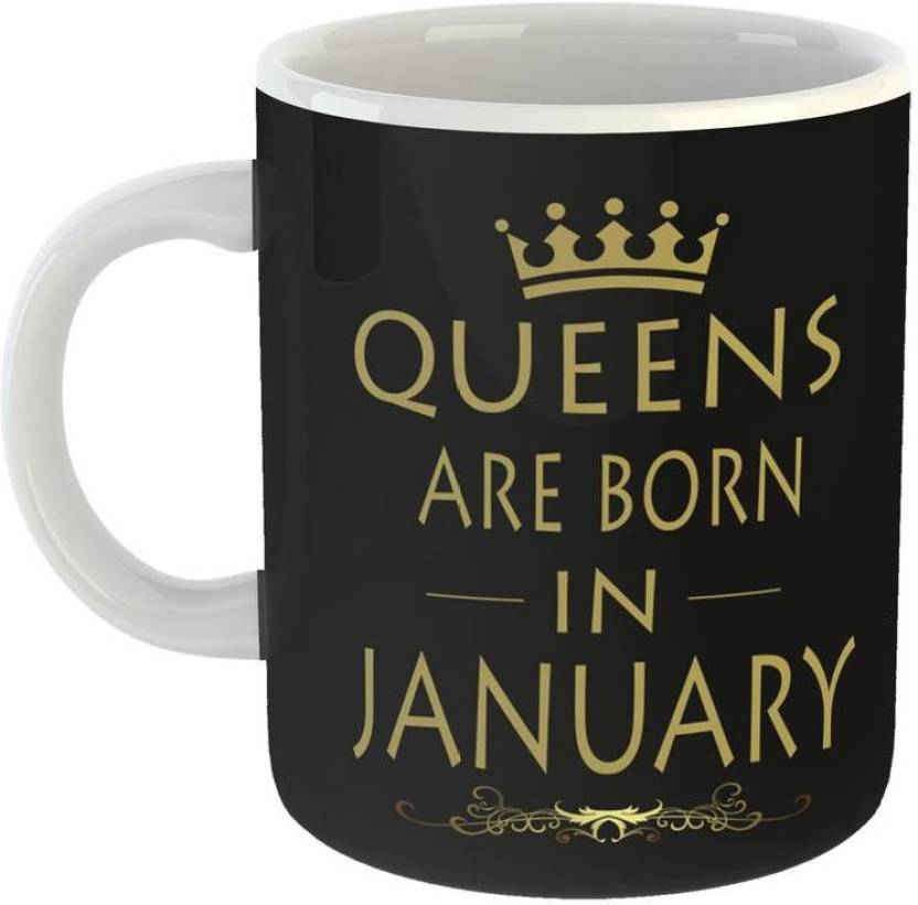 GiftOwl Best Birthday Gift Idea Queens Are Born In January Ceramic Coffee For Friend Girlfriend