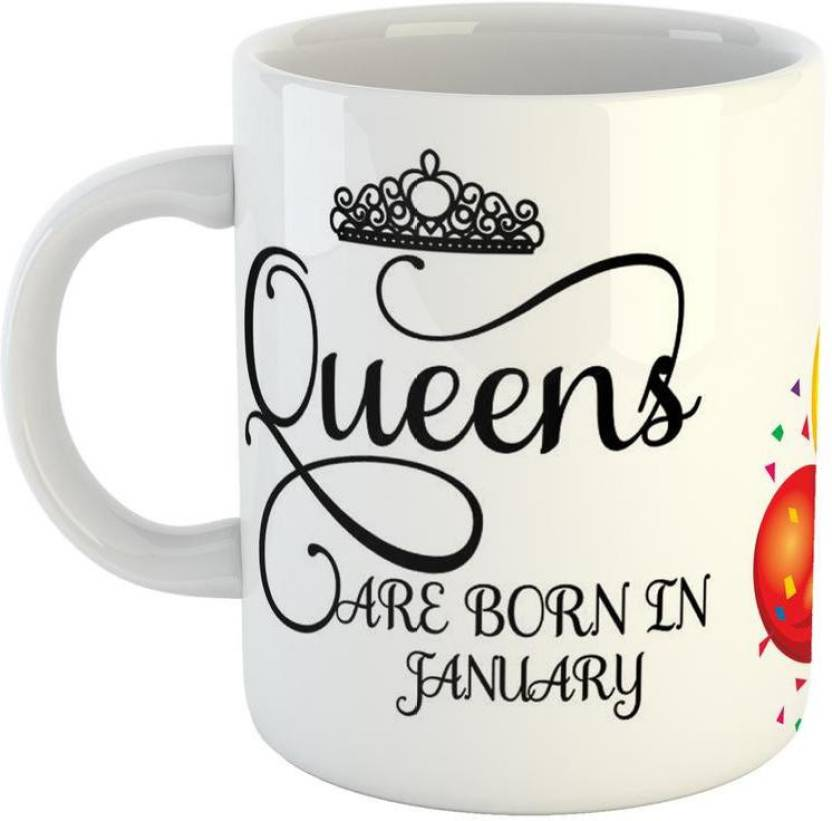 GiftOwl Best Birthday Gifts Perfect Girls Born In January Ceramic Coffee For Friend Girlfriend BoyFriend Glossy Finish With Vibrant Print Mug