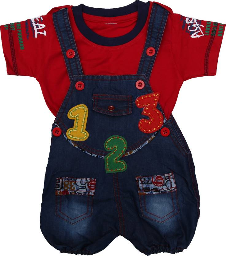 3045c621df1e9 Zadmus Dungaree For Boys   Girls Party Embroidered Denim Price in ...