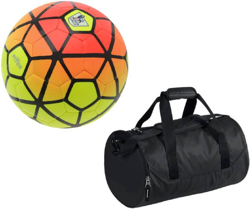 Retail World Ordem Orange Yellow Football (Size-5) with Gym Duffle Bag  Combo Football Kit - Buy Retail World Ordem Orange Yellow Football (Size-5)  with Gym ... d86157a895463