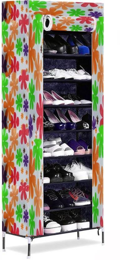 House Of Sensation Metal Shoe Stand Multicolor, 8 Shelves