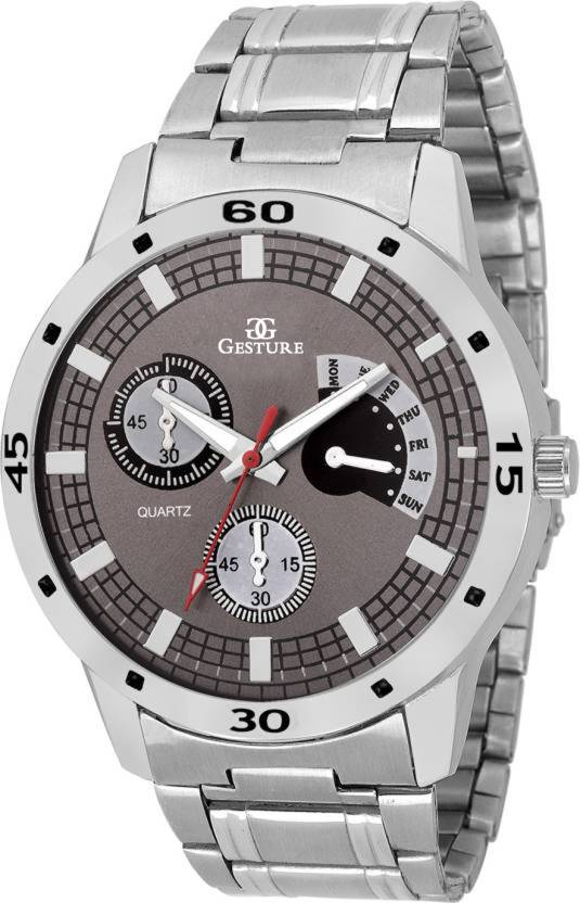 Gesture 6329 Grey Elegant Attractive Watch - For Men