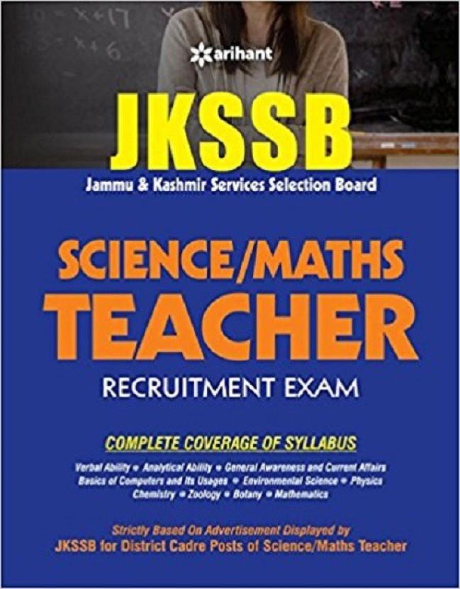 JKSSB Science Maths Teacher Recruitment Exam