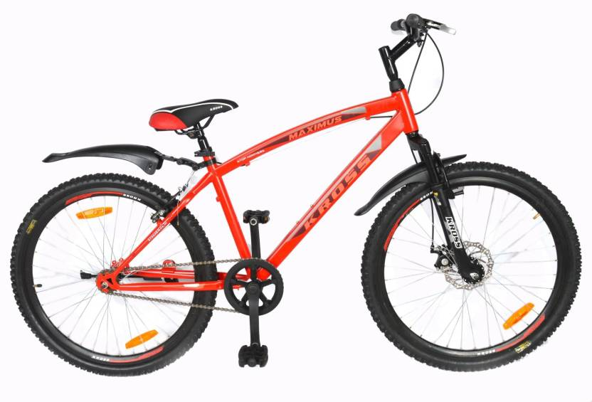 6a8ff45d820 Kross Maximus Front Suspension & Disc Brake Red Bike For Adults 26 T  Mountain/Hardtail Cycle (Single Speed, Multicolor)