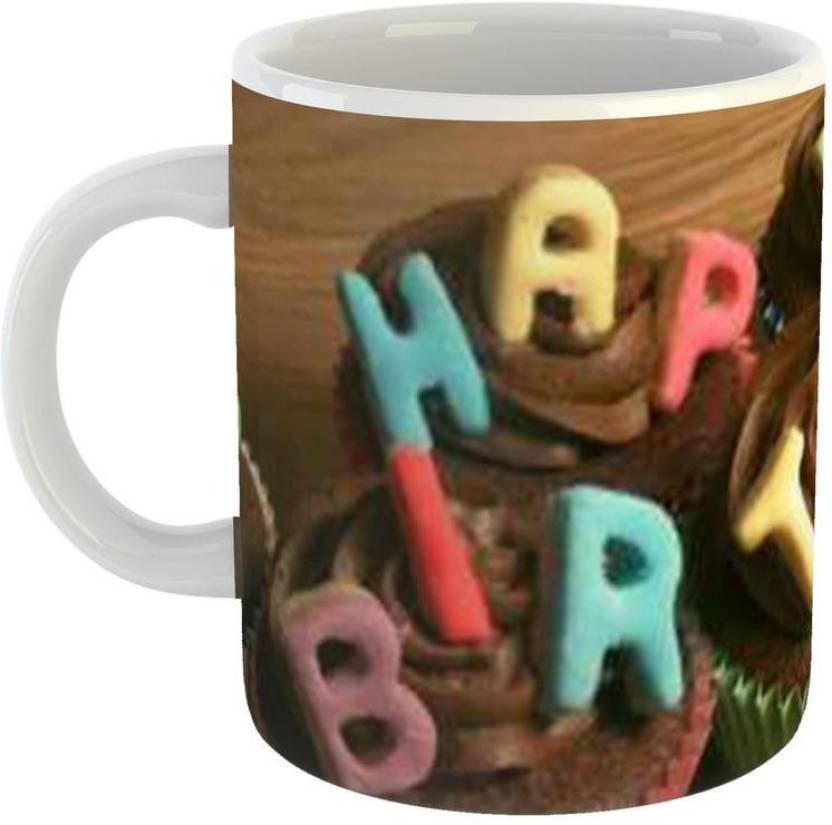 giftowl happy birthday super letter style coffee for friend girlfriend boyfriend glossy finish with