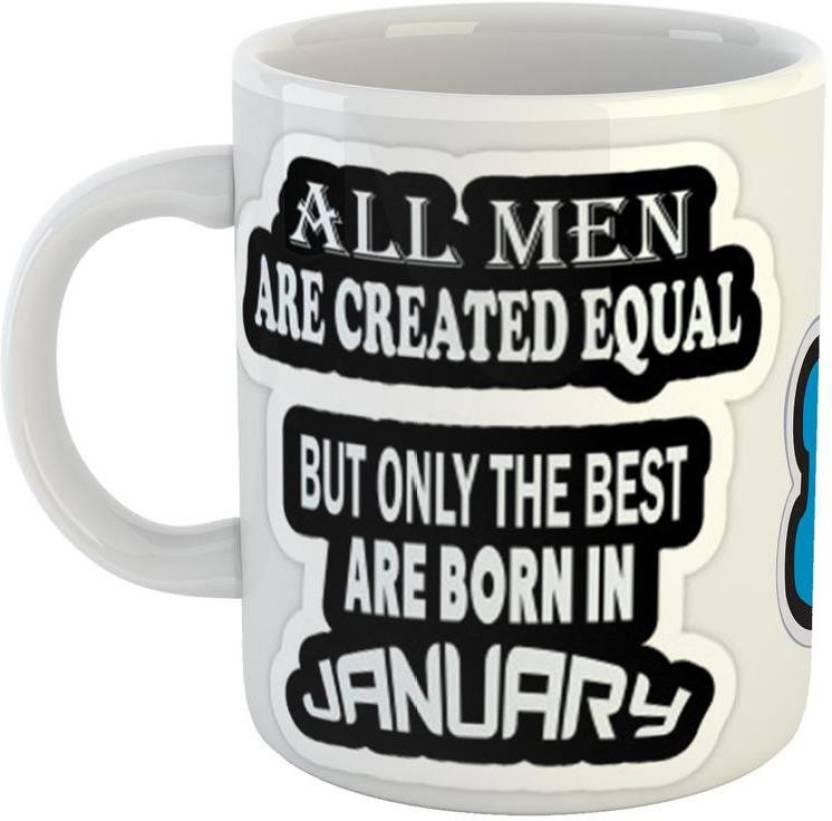 GiftOwl Perfect Birthday Gifts For Born In January Ceramic Coffee Friend Girlfriend BoyFriend Glossy Finish With Vibrant Print Mug 350 Ml