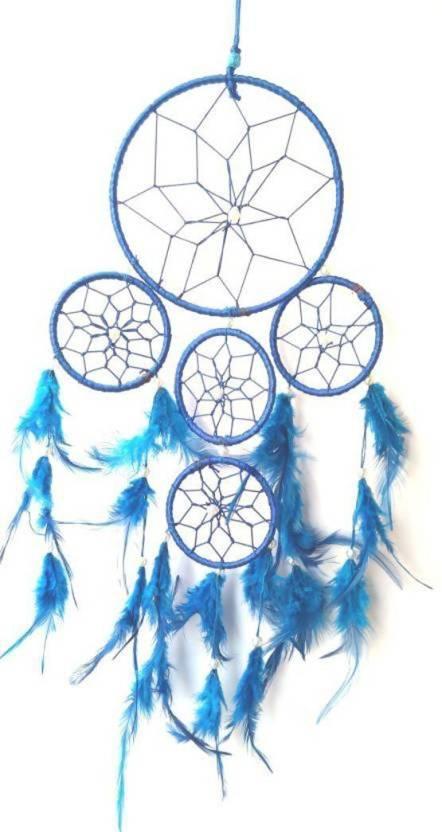 Unique Crafts Blue Dream Catcher Decorative Showpiece - 20