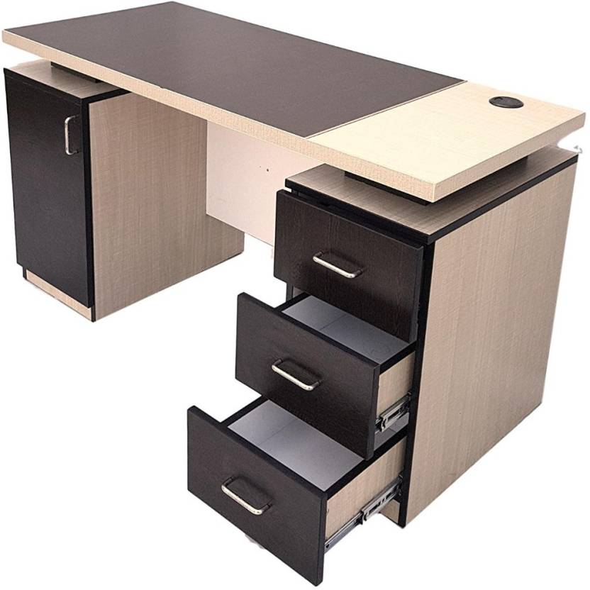 Status Topaz Premium Study Computer Table With 3 Drawers And 1 File Cabinet In