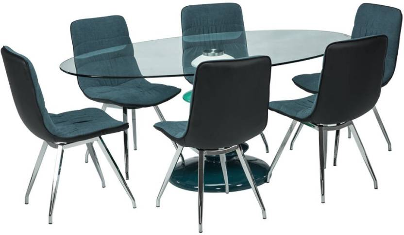 a63b74a99 Durian MARCEL Glass 6 Seater Dining Set Price in India - Buy Durian ...