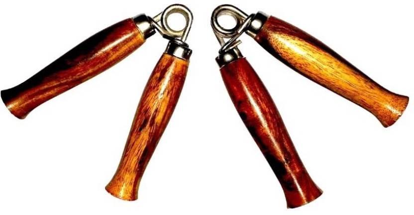 Vinto Superb Wooden 2 Pcs Set Hand Grip/Fitness Grip Multicolor
