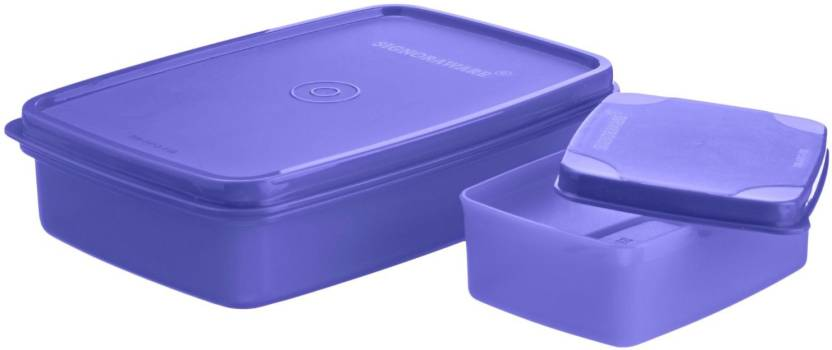 Signoraware Compact Small 2 Containers Lunch Box 700 ml