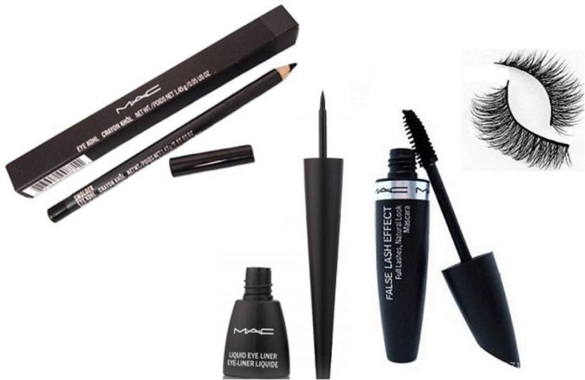 Imported Mac Pencil Kajal Eyeliner False Lash Effect Mascara