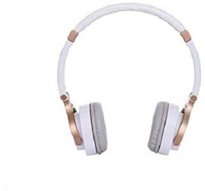 d37cc7a705a Motorola Pulse 3 Wired White-Gold Headset with Mic Wired Headset with Mic  (White and Gold