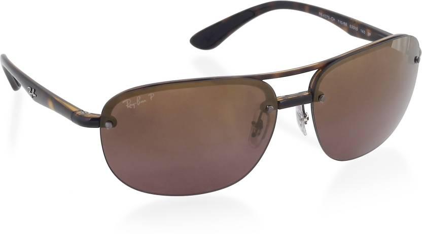 f6129314dd Buy Ray-Ban Retro Square Sunglasses Violet For Men Online   Best ...