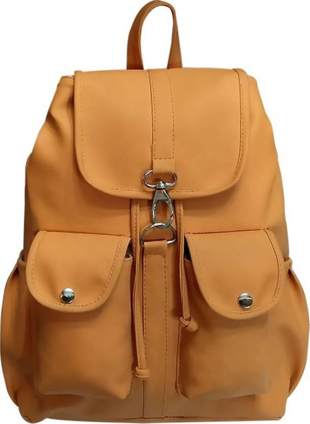 319fdec12186c4 MK PURSE BACKPACK BAG 10 L Backpack TAN - Price in India   Flipkart.com