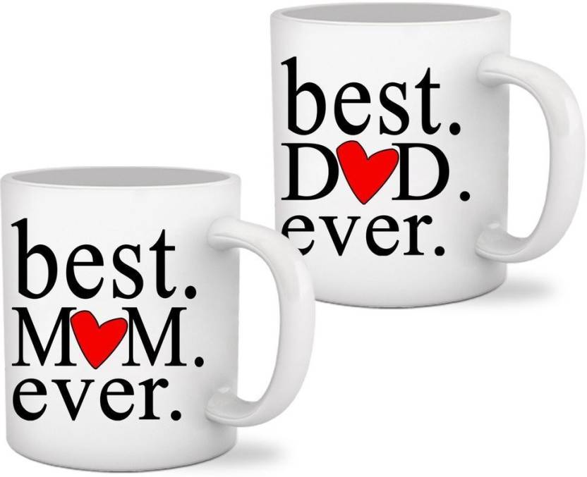 d430b1092b81e RAINBOW Gifts For Mom Dad Set of 2 printed Coffee Ceramic Mug Price ...