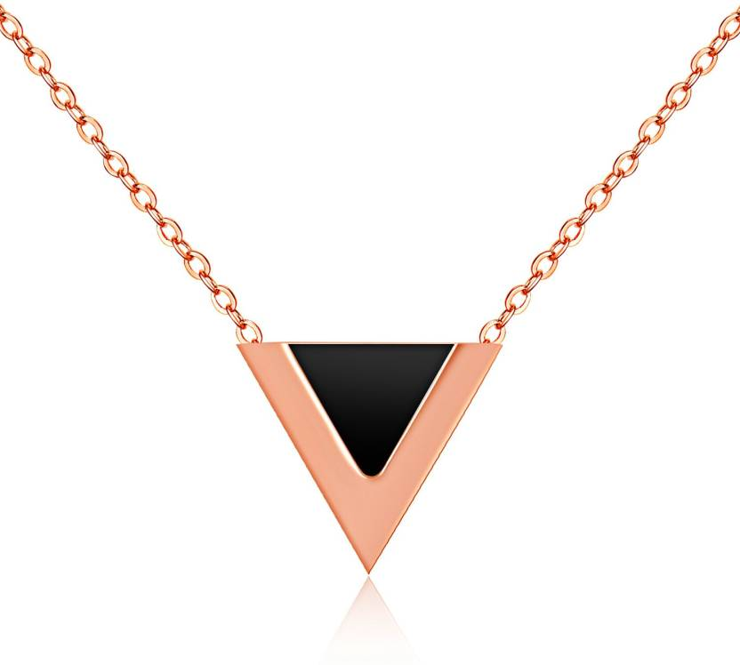 c7a67e6e5 Yellow Chimes Western Style The V Sign Rose Gold Gold-plated Stainless  Steel Pendant Price in India - Buy Yellow Chimes Western Style The V Sign Rose  Gold ...