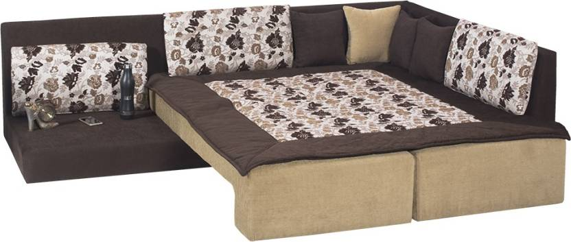 Bharat Lifestyle Travis Double Fabric Sofa Sectional Bed Price In