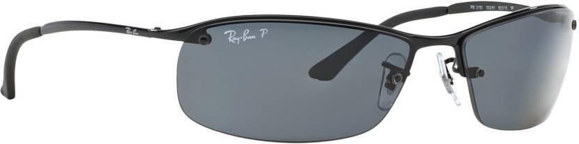 9b6d4019f8 Buy Ray-Ban Rectangular Sunglasses Grey For Men Online   Best Prices ...