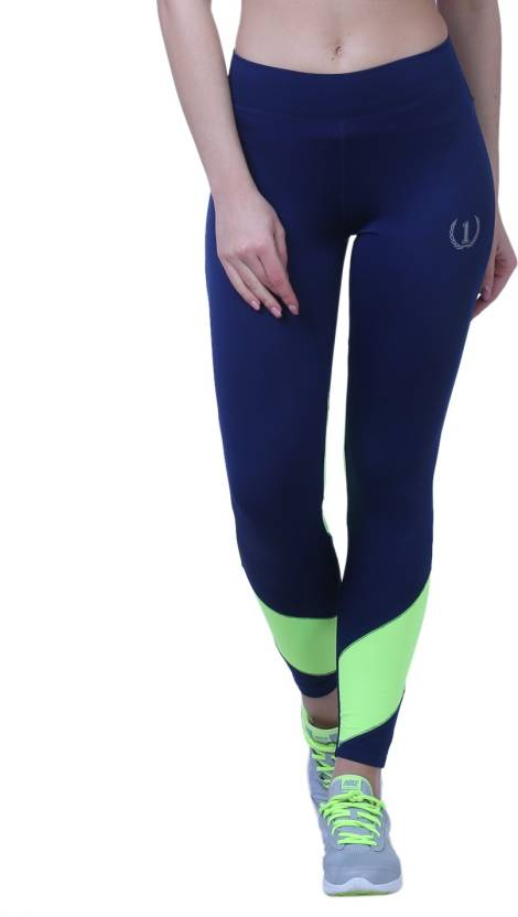 1a1510723b5 Onesport Solid Women Blue Tights - Buy Onesport Solid Women Blue Tights  Online at Best Prices in India