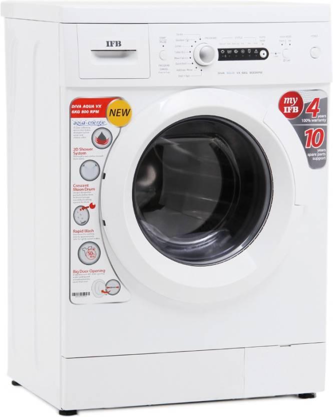 IFB 6 kg Fully Automatic Front Load Washing Machine White  (Diva Aqua VX)#JustHere at Flipkart ₹ 20,499