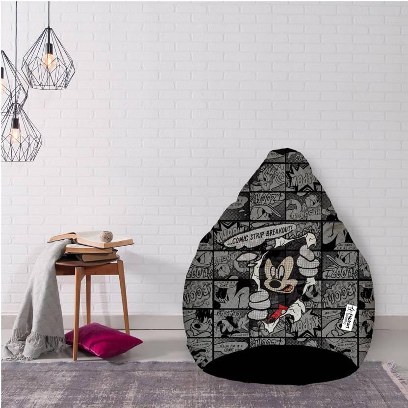 Flipkart Smartbuy Xxl Mickey Mouse Bean Bag With Bean Filling