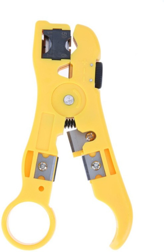RG6 RG59 RG7 RG11 Rotary Coax Coaxial Cable Cutter Wire Stripper Tool Adjustable