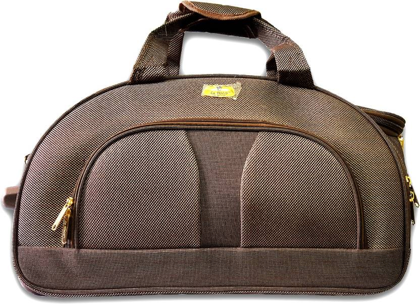 5441993257 La Polo Premium Gold Duffel Strolley Bag Brown - Price in India ...
