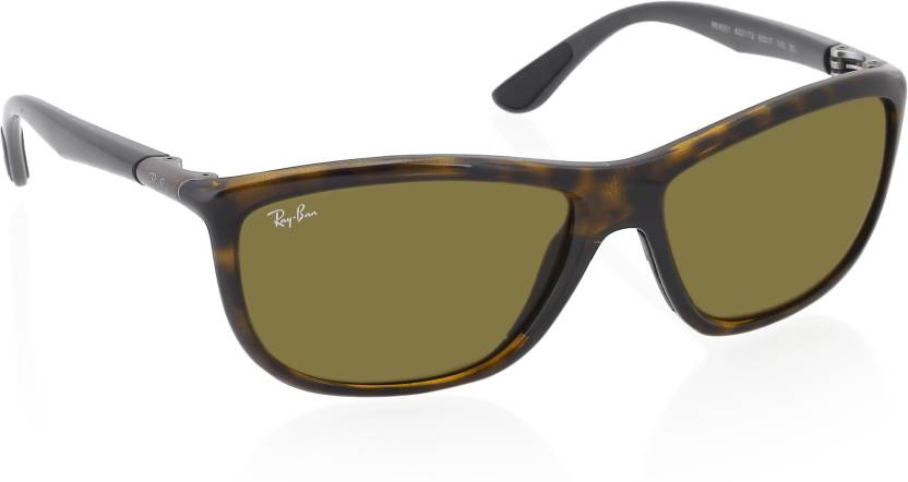 ac32e7e358 Buy Ray-Ban Retro Square Sunglasses Brown For Men Online   Best ...