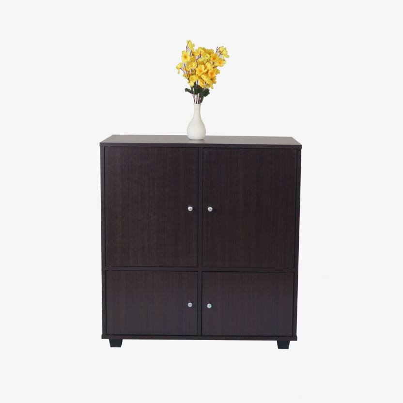 Eros Engineered Wood Free Standing Cabinet Finish Color   Wenge, Door Type  Hinged