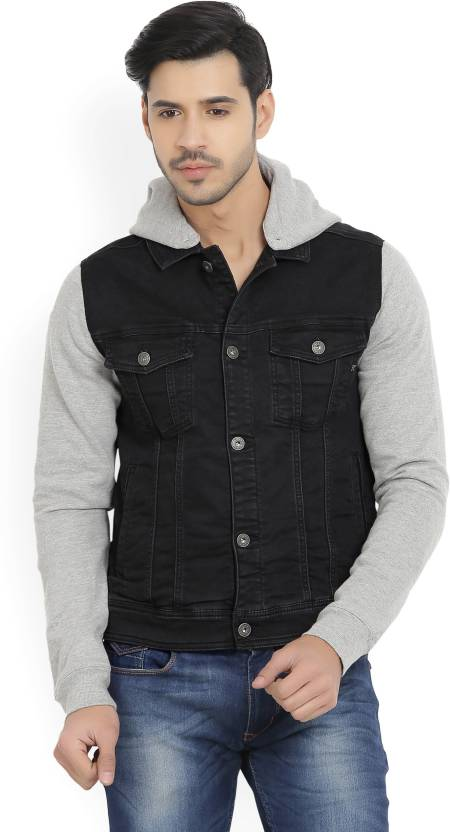 Killer Full Sleeve Solid Men S Denim Jacket Buy Black Killer Full