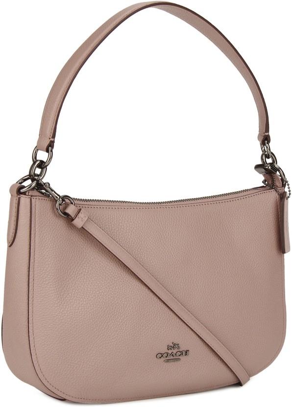 ... czech coach women casual pink genuine leather sling bag 04ec8 faded ... 3c345faa86adf
