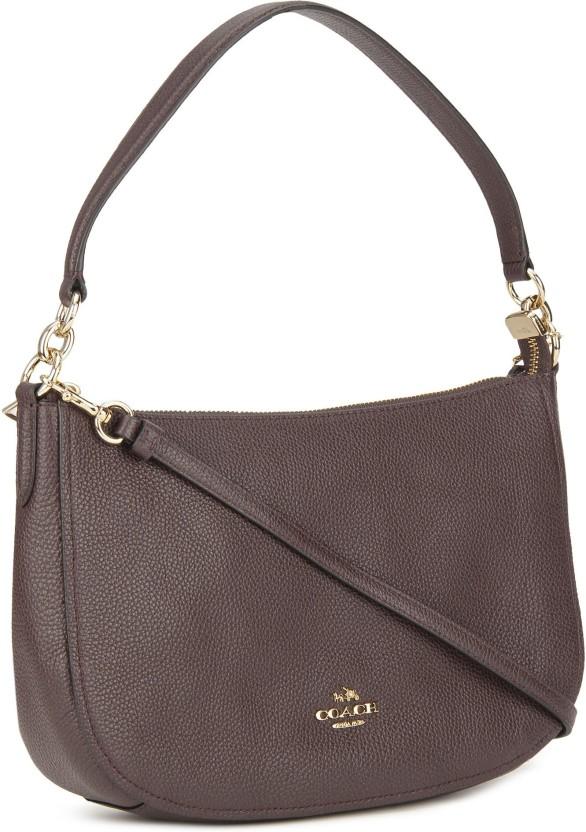 ... australia coach women casual maroon genuine leather sling bag 97304  2ca78 ... 1b304d5a50a9f